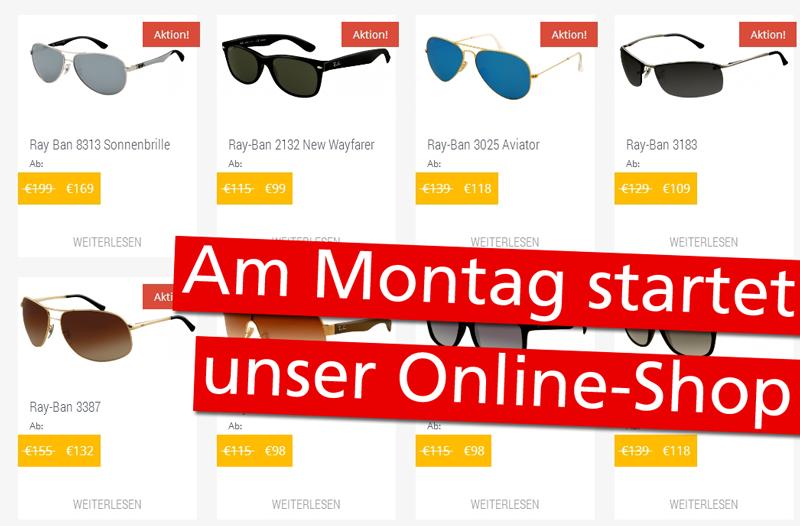 größte Auswahl an Online-Einzelhändler klare Textur Ab Montag startet unser Sonnenbrillen Online-Shop! - SUN ...